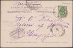 Russie 1902. Carte Postale De Kislovodsk. Timbre à 2 Kop. Cachet Cassé, Taxe Annulée (?) - Briefe U. Dokumente