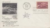 Enveloppe 1er Jour   U.S.A     Exposition  Universelle  BRUXELLES   1958 - 1958 – Bruxelles (Belgique)