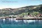 BREGENZ - Hafenpartie Gegen Pfänder, Dampfschiff, Gel.1914 - Bregenz