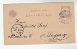 1897 HUNGRAY Postal  STATIONERY CARD To Leipzig GERMANY Cover Stamps - Covers & Documents