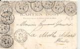 N°107 X10 Sur Verso De Carte Postale Dont Le Recto Est Absent - 1900-29 Blanc