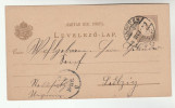 1897 HUNGRAY Postal  STATIONERY CARD To Leipzig GERMANY Cover Stamps - Postal Stationery
