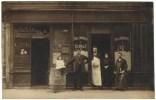 Carte Photo - Devanture De Commerce Vin A Emporter… Sté D´absinthe - Cafés