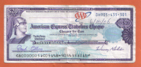 AMERICAN EXPRESS - 20 U.S. DOLLARS TRAVELERS CHEQUE - 2006 - - Cheques & Traveler's Cheques