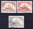 GROENLAND 1950-59 YT N° 25 à 27 Obl. - Groenlandia