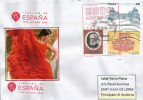 UNIVERSAL EXPO MILANO 2015. SPAIN/ESPAÑA.letter From The Spanish Pavilion,with Official Stamp Of The EXPO - Danse