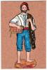 CPSM EN LIEGE LES SANTONS DE PROVENCE N°25 LOU PESCADOU PECHEUR - Cartes Postales
