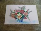 CPA Vase Bouquet De Fleurs En Découpi Relief 2D - Otros