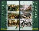 2011 Italia, Fatti D'arme Foglietti, Serie Completa Con Annulli Ufficiali F.D.C. - 6. 1946-.. Republic