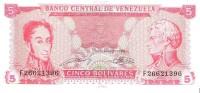 Venezuela  - Pick 70 - 5 Bolivares 1989 - Unc - Venezuela