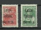 LITAUEN Lithuania 1941 German Occupation Telsiai Michel 1 & 4 * - Occupation 1938-45