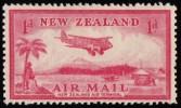 NEW ZEALAND - Scott #C6 Airplane / Mint H Stamp - Posta Aerea