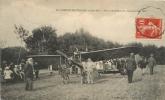 Cpa 44 Le Loroux-Bottereau, Fête D'Aviation 1913, Beau Plan Du Pilote Devant Son Avion, Public..., Carte Peu Courante - Altri Comuni