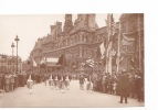 25246 Militaria Guerre 1914 14-18 Victoire - American Legion -LH Paris - Hotel De Ville -drapeau