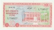 Burundi 10 Francs 1.4.1970 P 20b UNC - Burundi