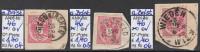 "15.8.1883 - FM/DM ""Doppeladler Mit Brustziffer"" 5 Kreuzer Rot - O Gestempelt A. Briefstück-siehe Scan (46o 04-06 Brfst) - Gebraucht"