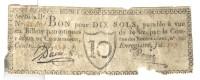 Bon Pour 10 Sols Payable à Vue En Billets Patriotiques De 10 Livres - Rue Des Bons-Enfants - Assignats & Mandats Territoriaux