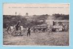 Guerre 1914 - Artillerie Lourde Française -- Une Pièce De 155 Et Son Tracteur Automobile - Guerre 1914-18