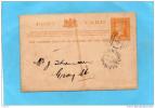 VICTORIA-carte Entier-one Penny- Repiquage -borough Of Hamilton-to The Electors-a Circulé En 1892 - 1850-1912 Victoria