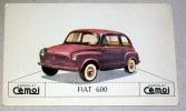 Voiture Fiat 600 - Image à Découper 7X12 Cm Env - Chromo Collection Chocolat Cémoi - Voitures