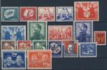 DDR Michel No. 280 - 297 ** postfrisch / Jahrgang 1951 komplett
