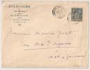 REVUE DU LANGUEDOC, LAMALOU LES BAINS Hérault Sur Enveloppe SAGE. - Postmark Collection (Covers)