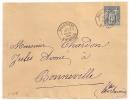 SUPERBE FRAPPE, SALLANCHES Haute Savoie Sur DEVANT D'enveloppe Au Type SAGE. - 1876-1898 Sage (Type II)