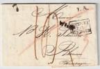"""1829, """" AUTRICHE Par HUNNINGUE """"  , #4255 - Storia Postale"""