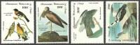 CONGO 1985 ART PAINTINGS AUDUBON BIRDS IBIS DUCK HAWK SINGLE SET MNH - Eagles & Birds Of Prey