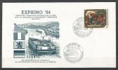 CARTE COMMEMORATIVE EXPHIMO '84 MONDORF-LES-BAINS TP N° 1101  (CACHET POSTAL DE MONDORF-LES-BAINS) (SCAN VERSO) - Cartes Commémoratives