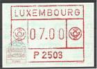 CARTE COMMEMORATIVE SERVICE DES NOUVEAUTES U.T.L. P2503 TP DISTR. N° 1  (CACHET POSTAL D´ESCH-SUR-ALZETTE)(SCAN VERSO) - Cartes Commémoratives