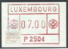 CARTE COMMEMORATIVE SERVICE DES NOUVEAUTES U.T.L. P2504 TP DISTR. N° 1  (CACHET POSTAL DE MERSCH)(SCAN VERSO) - Cartes Commémoratives