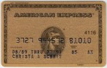 Credit Card A-417  - American Express - Used - Krediet Kaarten (vervaldatum Min. 10 Jaar)