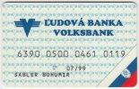 Credit Card A-422 Slovakia - Ludova Banka Volksbank - Used - Krediet Kaarten (vervaldatum Min. 10 Jaar)