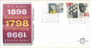 E389 - Gecombineerde Uitgifte - Escher - Vestdijk - Willem Van Oranje(1998) - NVPH 1770-1772 - FDC