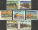 COOK ISLANDS 1985 TRAINS RAILWAYS LOCOMOTIVES SET MNH - Cook Islands