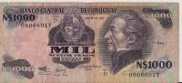 Billets - Uruguay - 1000 Pesos - - Uruguay