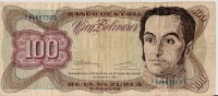 Billets - Venezuela  - 100 Bolivares - - Venezuela