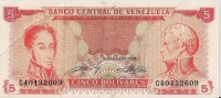 Billets - Venezuela  - 5 Bolivares - - Venezuela