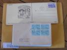 Mise à Prix 1 Euro  Lot De 93 Lettres Usa  - états Unis (united States)  - Fdc Entiers ...  (215) - Collections