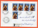 Luxemburg 1983 - FDC Einschreibesendung Vom 7.9.1983 - 1084 - Hund - Schäferhund - Luxembourg