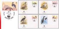 WWF Gibraltar 4 FDC Oiseaux - FDC