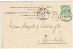 Perfin V.G. Vertongen Goens Termonde 1901 - Lochung