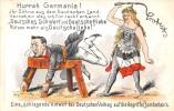 CPA ILLUSTRATEUR POLITIQUE HURRAH GERMANIA TRANSVAAL(dos Non Divisé) CPA PARFAIT ETAT - Satirical