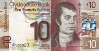 SCOTLAND 10 POUNDS CLYDESDALE PICK 229J UNC - [ 3] Scotland
