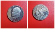 """Estados Unidos 1 Dolar  Eisenhower  1974 """"S""""  Proof - EDICIONES FEDERALES"""