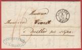Superbe Lettre Et Empreinte 1855 Lausanne Matin à Duiller Près Nyon (cachet Nyon 4 Déc.55 - Switzerland