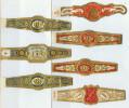 7 Alte Zigarrenbanderolen - Bauchbinden Der Zigarrenmarke: Invincibles - Bauchbinden (Zigarrenringe)
