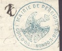 COTE D'OR 21 PONTAILLE SUR SAONE LAC Tad 15 Gc 2961 Sur N° 22 Boite Rurale K = Perrigny TTB - Postmark Collection (Covers)