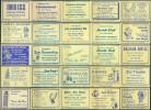 25 Alte Gasthausetiketten Aus Deutschland #140 - Luciferdozen - Etiketten